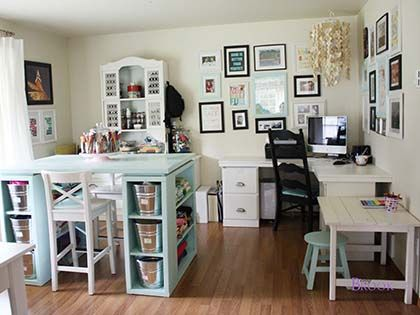12 Amazing Ideas To Use Ikea Products In The Craft Room