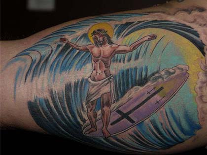 9 Ridiculously Weird Surf Tattoos