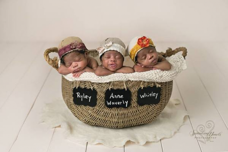 White Mom Delivers Black Triplets, Dad Takes Closer Look And Bursts Into Tears_12